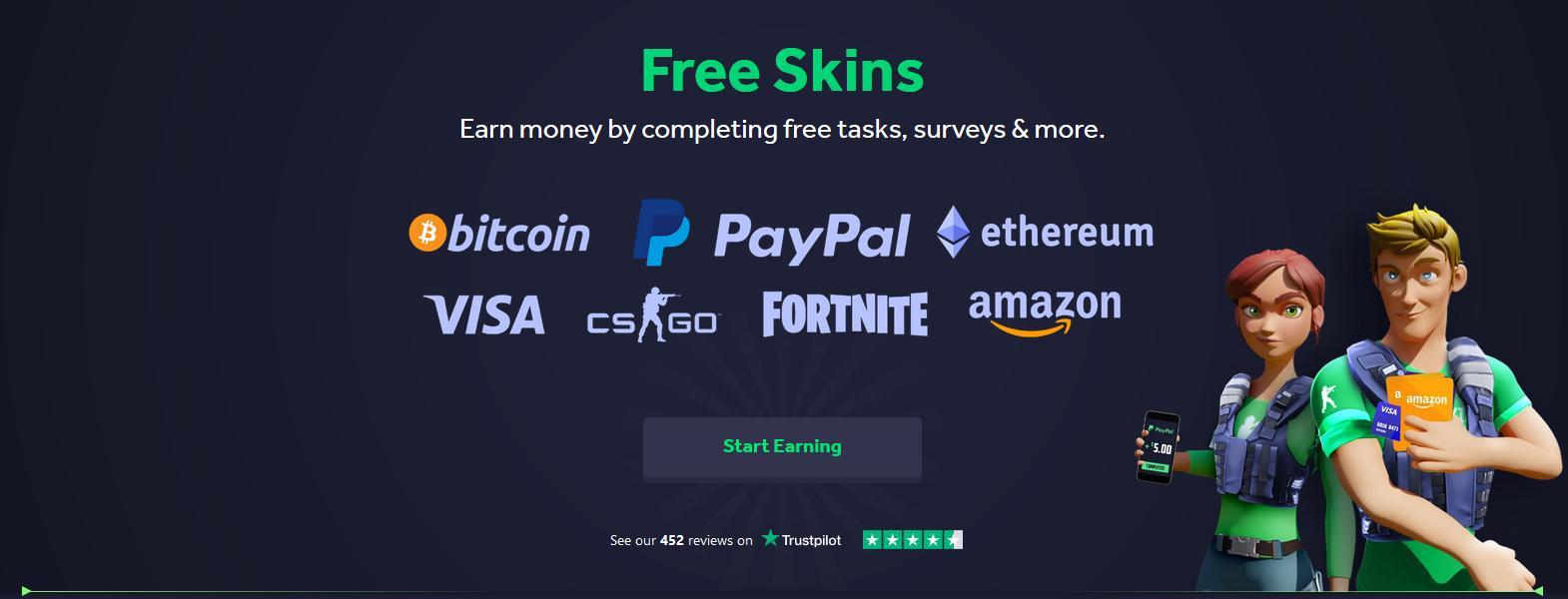 Freeskins.com - Earn free CS:GO skins