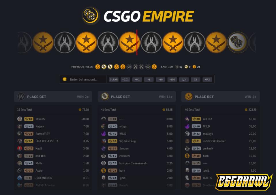 CSGOEmpire - CS:GO Roulette Site