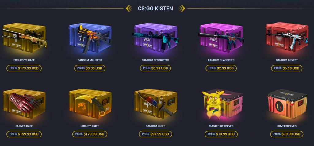 Farmskins - CS:GO Case Opening Site